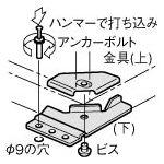 TRUSCO スタンダード書庫用転倒防止金具 下部1連用床止板セット