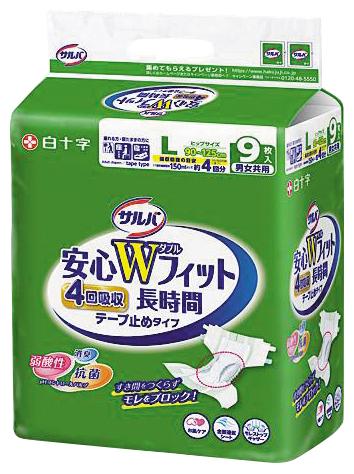 安心Wフィット Lサイズ9枚×4パック入