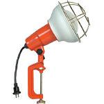 ハタヤ 防雨型作業灯 リフレクターランプ300W 100V接地付10m バイス付