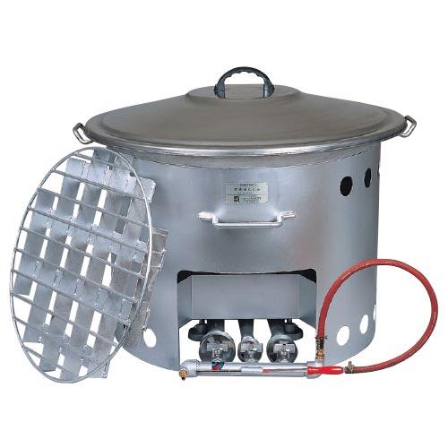 ▲b 屋外用煮炊鍋 炊き出しくん 110L