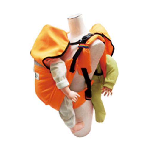 避難君避難用2人抱きキャリー  オレンジ