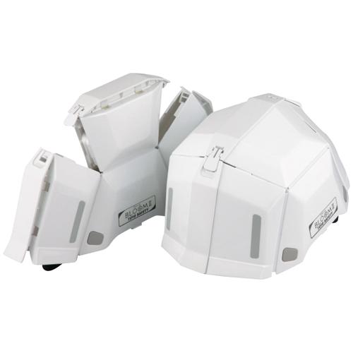 折畳ヘルメットブル-ム2  101ホワイト